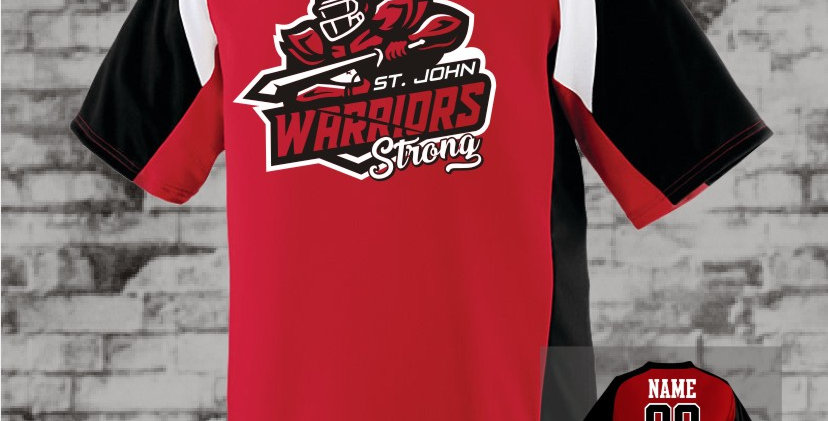 Warriors Strong Red Nitro Dry-Fit Jersey