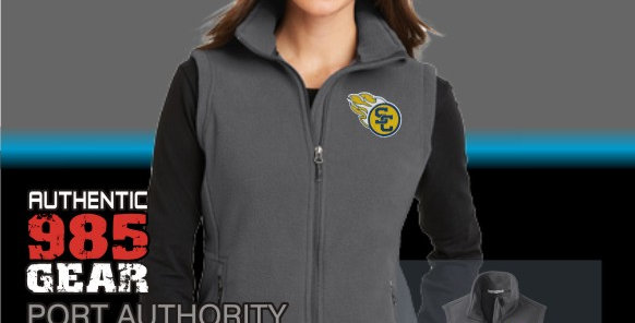 SCC Ladies Iron Grey Fleece Vest