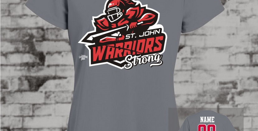 Warriors Strong Ladies Graphite Dry-Fit V-Neck