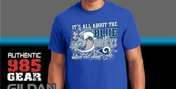 WSJ Blue & Grey T-Shirt