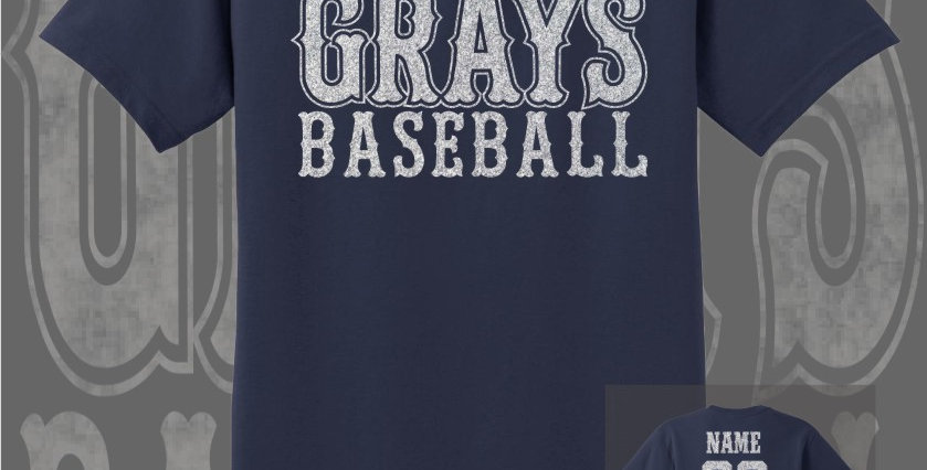 Gray's Baseball Glitter Navy T-Shirt