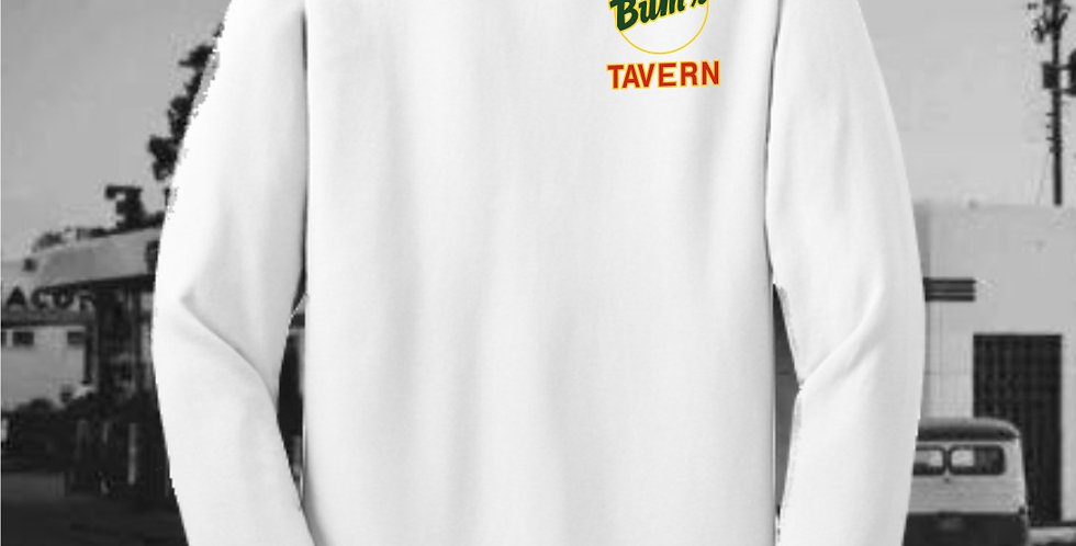 Bum's Tavern White Long Sleeve T-Shirt
