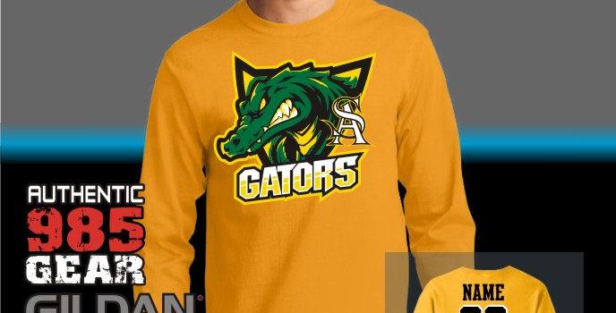 "STA ""Gator Shield"" Gold Longsleeve T-Shirt"