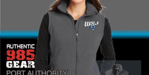 WSJ Ladies Iron Grey Fleece Vest