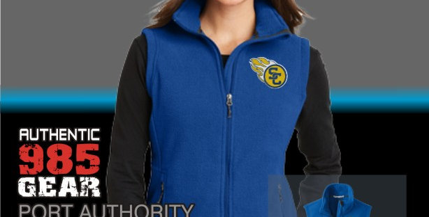 SCC Ladies Royal Fleece Vest