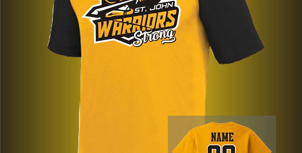 Warriors Strong Gold Raglan Jersey