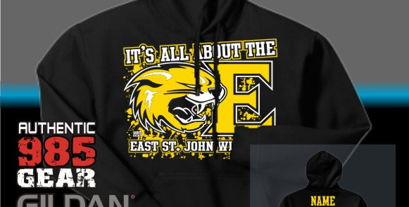 """ESJ """"It's All About The E"""" Cotton Hoodie"""