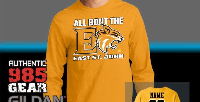 "ESJ ""All Bout The E"" Gold Longsleeve T-Shirt"