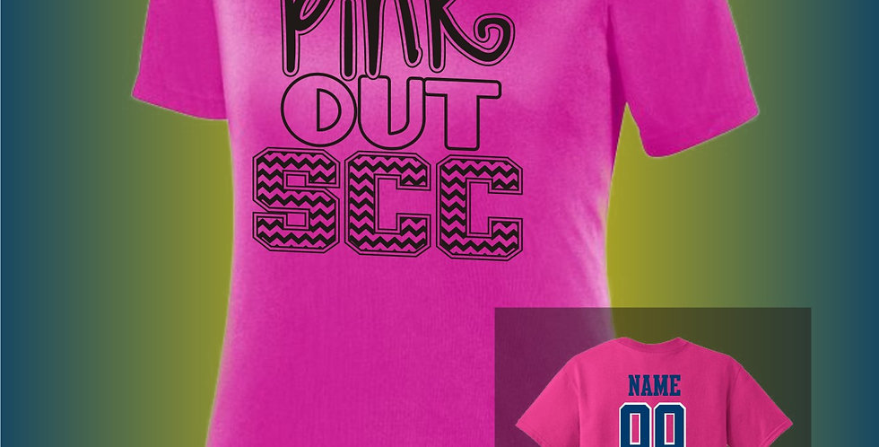 SCC Ladies Pink Out Dry-Fit V-Neck