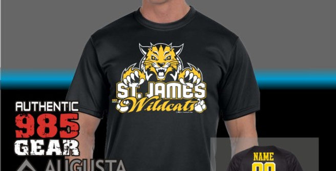 "St. James ""Cat Claws"" Dry Fit Black T-Shirt"