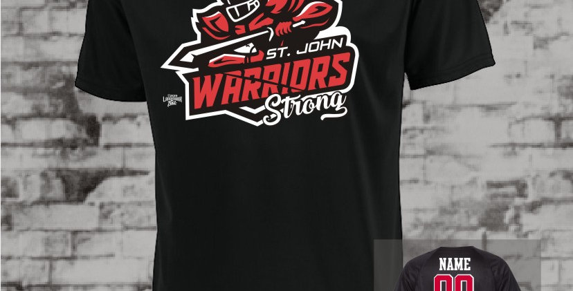 Warriors Strong Attain Black Dry Fit T-Shirt