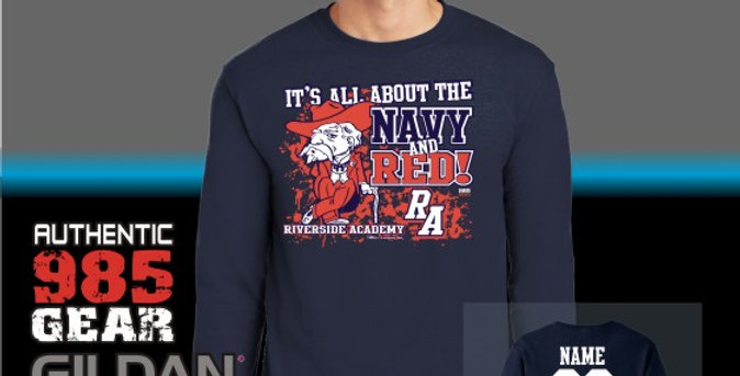 "Riverside ""All Bout The Navy & Red"" Long Sleeve T-Shirt"