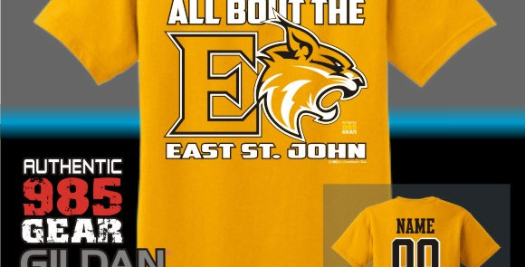 """ESJ """"All Bout The E"""" Gold T-Shirt"""