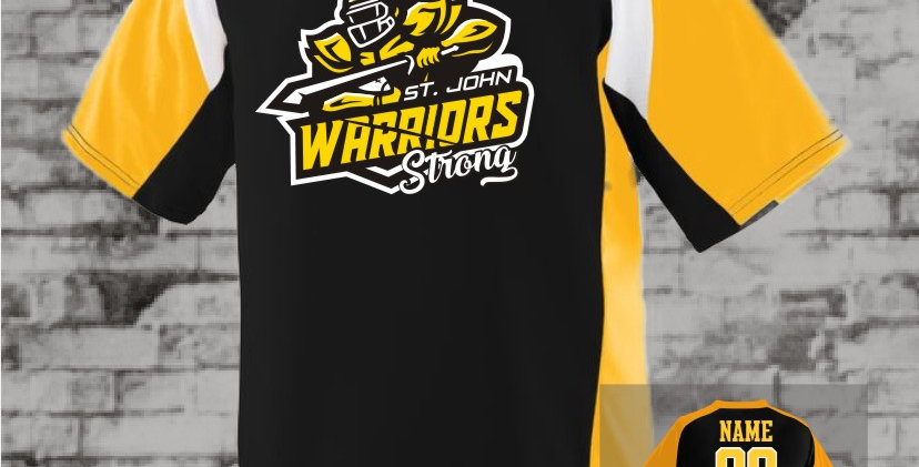 Warriors Augusta Nitro Dry-Fit Jersey (Gold Team)