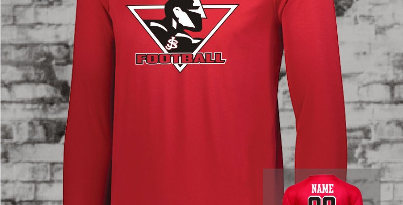 Warriors LS Attain Red Dry Fit T-Shirt