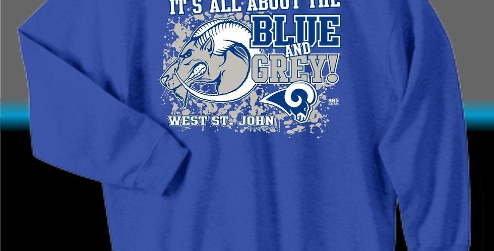 WSJ Blue & Grey Sweatshirt