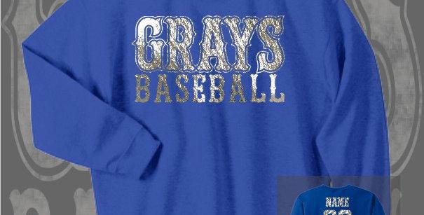 Gray's Baseball Foil Royal Crewneck Sweat