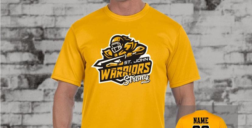 Warriors Augusta Dry Fit T-Shirt (Gold Team)