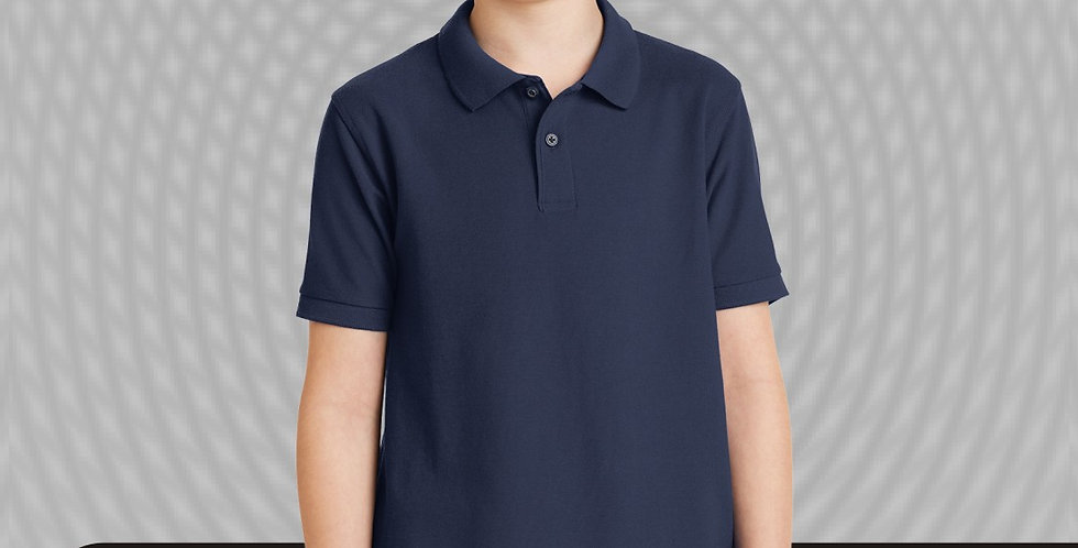 Port Authority Y500 Silk Touch Navy Polo