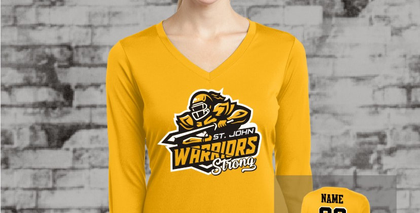 Warriors Longsleeve Ladies Competitor V-Neck (Gold Team)