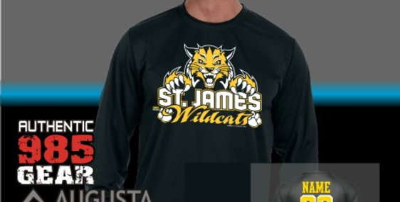 "St. James ""Cat Claws"" Black Dry-Fit Longsleeve T-Shirt"
