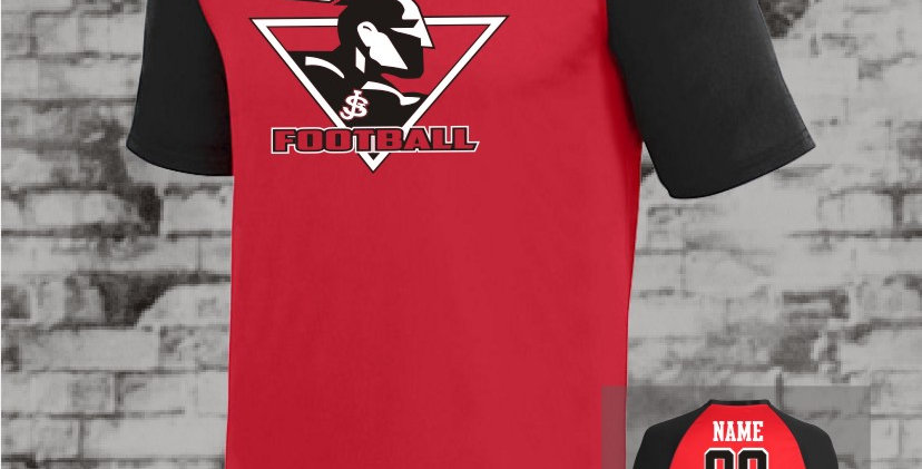 Warriors Raglan Red Dry Fit Jersey