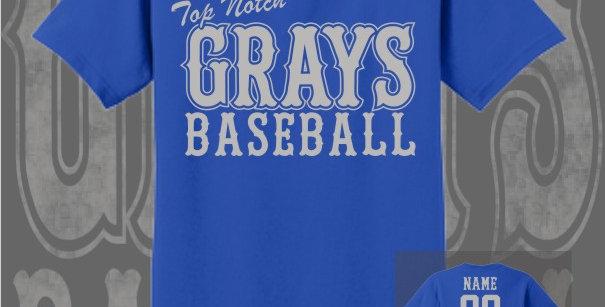 Gray's Baseball Royal T-Shirt