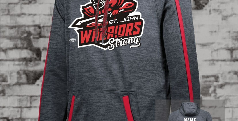 Warrior Strong Red Stoked Tonal Hoody