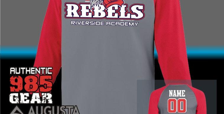 "Riverside ""General Reb"" Dry-Fit Nova Graphite/Red Jersey"