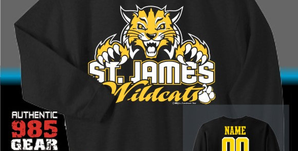 "St. James  ""Cat Claws"" Black Crew Sweatshirt"