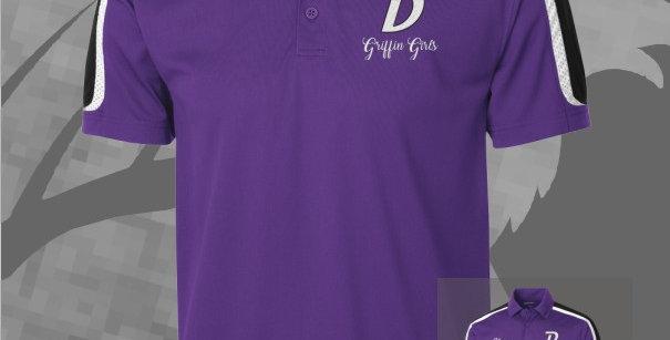Griffin Girls Mens Tri-Color Shoulder Sport-Wik Polo