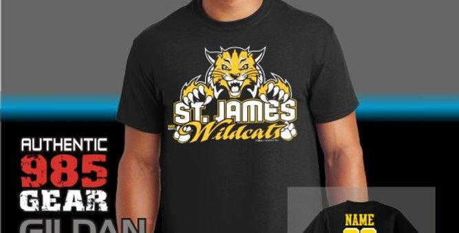 St. James Black T-Shirts