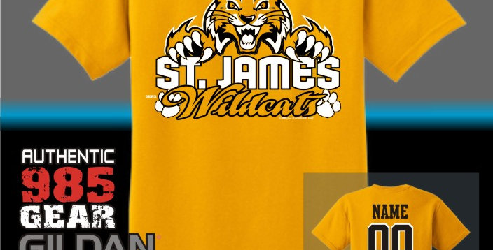 "St. James ""Cat Claws"" Gold T-Shirt"