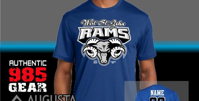 WSJ Ram Tough Royal Dry-Fit T-Shirt