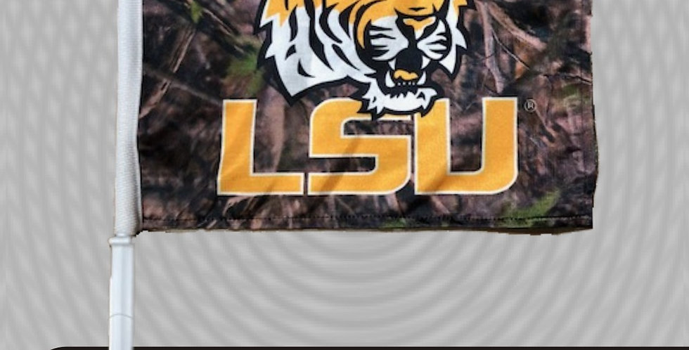 LSU Camo Car Flag