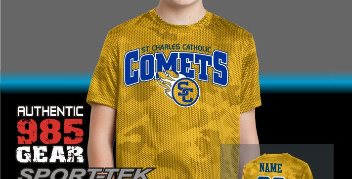 SCC Youth Mens CamoHex Tee
