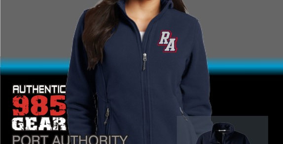 Riverside Ladies Navy Fleece Jacket
