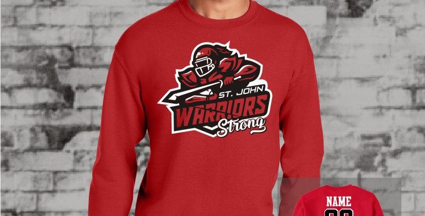 Warriors Strong Crew Sweatshirt (Red Team)