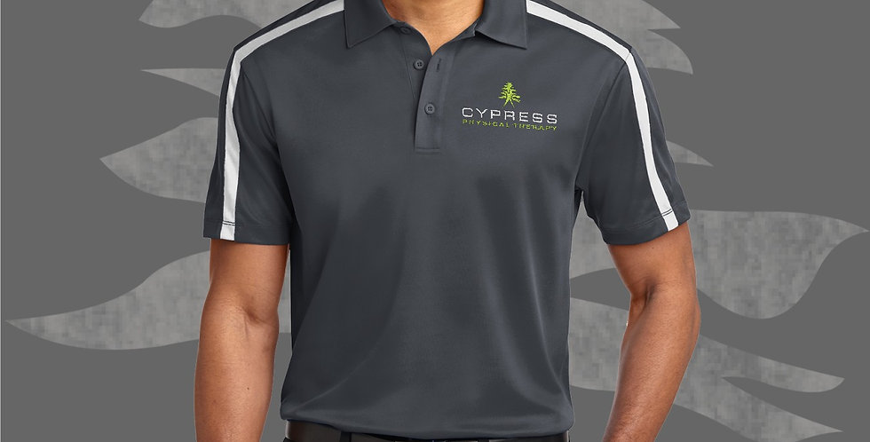 Cypress Physical Therapy Port Authority K547 Silk Touch Striped Polo