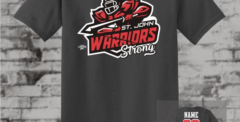 Warriors Strong Charcoal T-Shirt