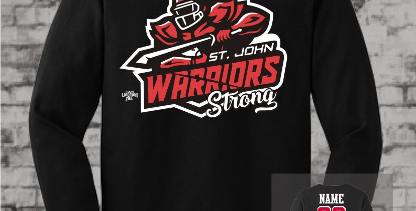 Warriors Strong Black Long Sleeve T-Shirt