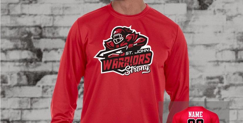 Warriors Longsleeve Dry Fit T-Shirt (Red Team)