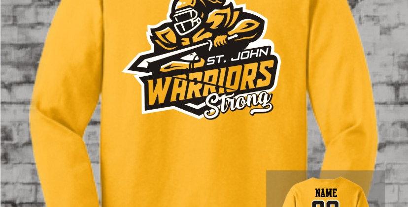 Warriors Strong Gold Long Sleeve T-Shirt