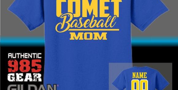 SCC Baseball Mom Vinyl T-Shirt