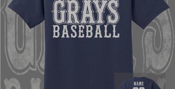 Gray's Baseball Navy T-Shirt