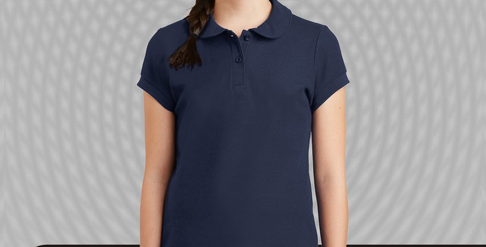 Port Authority Girls YG503 Silk Touch Peter Pan Collar Polo