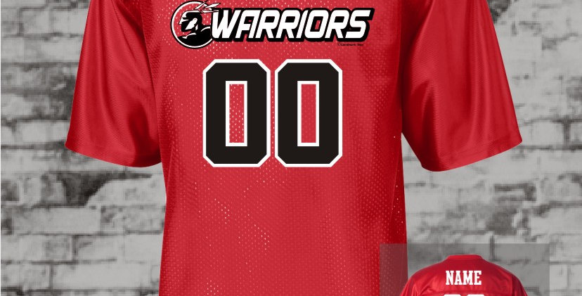 Warriors Red Mens Replica Jersey