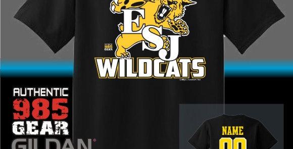 """ESJ """"Gold Grass"""" Black T-Shirt"""