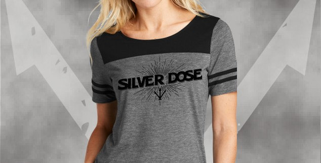 Silver Dose Ladies Tri-Blend Fan Tee