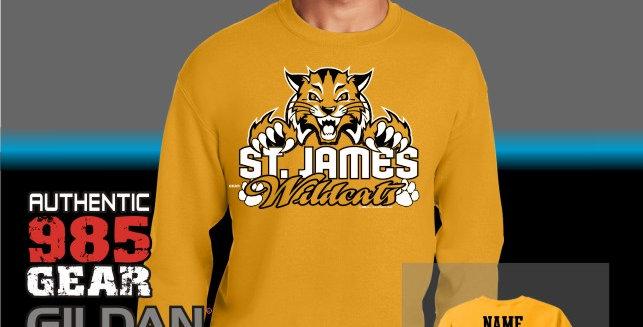 "St. James ""Cat Claws"" Gold Crew Sweatshirt"